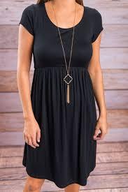 women u0027s casual black short sleeve a line empire waist summer fall