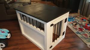Diy End Table Dog Crate by Ana White Large Wood Pet Kennel End Table Diy Projects