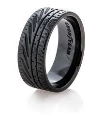 tire wedding rings goodyear eagle f1 supercar tire wedding ring titanium buzz