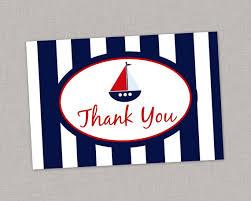 nautical thank you cards nautical thank you card nautical birthday nautical baby