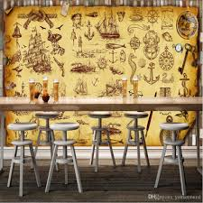 Dining Room Murals Custom Retro Nostalgia Graffiti Murals Wallpaper Coffee Bar