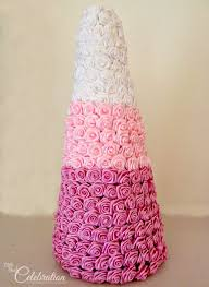 Paper Rose Topiary - ombre ribbon rose topiary little miss celebration