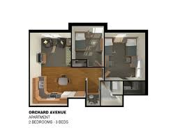 3 Room Apartment by Orchard Apartments Colorado Mesa University
