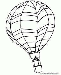 the brilliant and also interesting air balloon coloring page