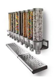 Cream Spice Rack Rosseto Ez525 3 Container Ice Cream Topping Candy Wall Mount