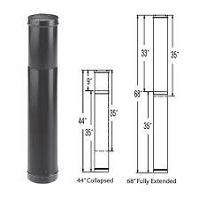 6 u0027 u0027 durablack telescoping black stove pipe length 1647