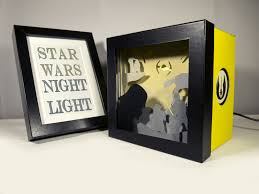 Star Wars Home Decorations by Star Wars Shadow Box Night Light Special Night Light Unique