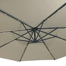 10 Foot Patio Umbrella Sunnydaze Steel 10 Foot Offset Solar Led Patio Umbrella With