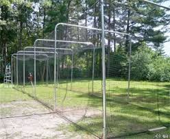Batting Cage For Backyard by Basic Pro Style Batting Cage Frame U0026 Net