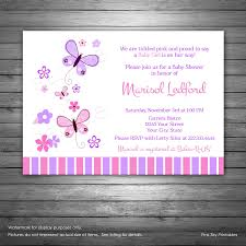 butterflies baby shower invitations printable file for
