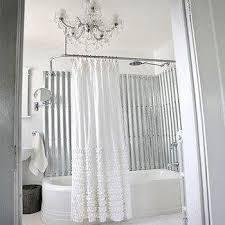 Black Ruffle Shower Curtain Rayna Tiered Ruffle White Shower Curtain