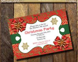 gold christmas party invitation prinbtable christmas
