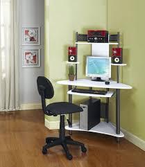 Glass And Metal Corner Computer Desk Multiple Colors Office Glass Corner Office Desk Glass Computer Corner Desk Home