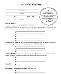 Examples Of Teenage Resumes For First Job by Best 25 My Resume Ideas On Pinterest Resume Templates For