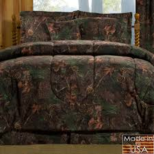 mixed pine rustic camo mini comforter set bedding