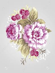 Peony Bouquet Hand Drawn Peony Bouquet Simple Background Stock Photo Picture