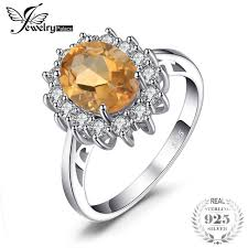 citrine engagement rings jewelrypalace 2 3ct princess diana william kate middleton s
