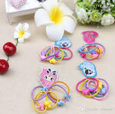 baby hair ties animal shape elastic hair bands baby mini rubber band hair