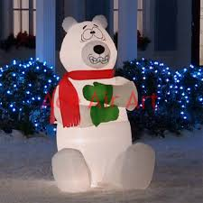 outdoor giant christmas inflatable shivering polar bear for