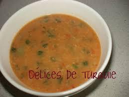 recette cuisine turc soupe poivrons lentilles riz melhem çorbası délices de turquie