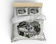 Day Of The Dead Bedding Sugar Skull Comforter Set Duvet Cover Amalia Skull Bedding Day