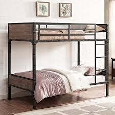 Walker Edison Furniture Company Rustic Twin Over Twin Wood Bunk - Walker edison twin over full bunk bed