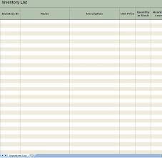 inventory list form 48 samples csat co