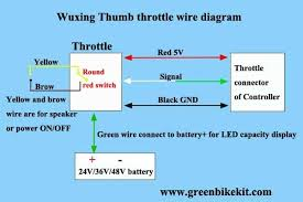 wuxing thumb throttle with battery switch and battery capacity