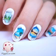 Nail Art Designs July 4 Piggieluv Tear In The Fabric Of Reality Freehand Nail Art