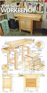 Woodworking Bench Top Plans by Best 25 Small Workbench Ideas On Pinterest Compact Kitchen