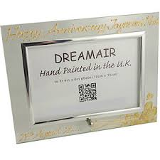 1st wedding anniversary gifts personalised 1st wedding anniversary gift frame flower l