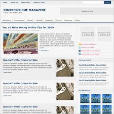 simple scheme magazine template free website templates in css