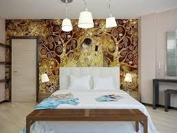 agencement chambre à coucher design interieur aménagement chambre coucher lit déco murale