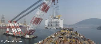 shipyard magic one crane lifting a 10 story steel block u2013 gcaptain