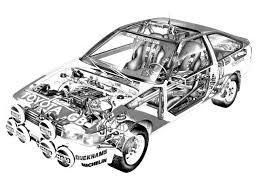 racing cars toyota corolla ae86 gt group a 1984
