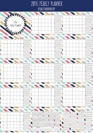 printable annual planner printable year planner 2016 calendar 2016 landscape printable pages