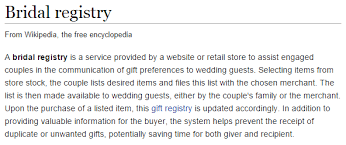 what is a wedding registry wedding photography