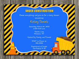 construction baby shower construction dump truck baby shower invitation