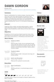 Freelance Resume Sample by Freelance Writer Resume Example Resumecompanion Com Resume