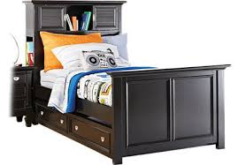 Trundle Bed With Bookcase Headboard Belmar Coastal Bedroom Furniture Collection