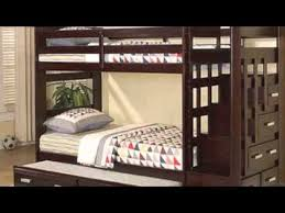 twin over twin bunk bed w trundle and stairway storage youtube