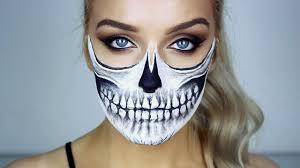 halloween makeup tutorial skeleton halloween skull makeup tutorial youtube
