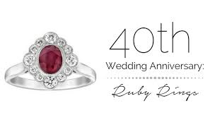 what is 40th wedding anniversary 40th wedding anniversary ruby rings