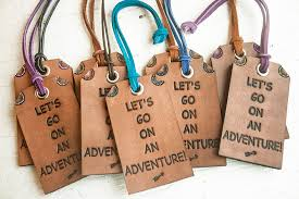 travel tags images Leather luggage tag travel themed bag tag lets go on an jpg