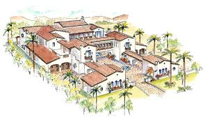 courtyard home designs home plans house plan courtyard home plan santa fe style home
