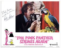 the pink panther lot detail u0027 u0027the pink panther strikes again u0027 u0027 lobby card signed