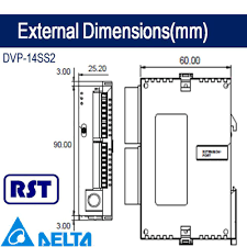 delta dvp 14ss2 plc with counter connection towards the dc input