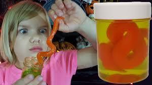 spirit halloween sumo wrestler slimy creatures in jars halloween candy review kid candy