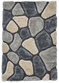 pebble rug grey blue pebble rug shaggy pile noble house soft hand tufted