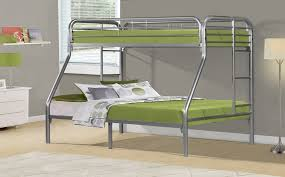 Steel Frame Bunk Beds by I 2231s Silver Metal Twin Double Bunk Bed Frame Brand New